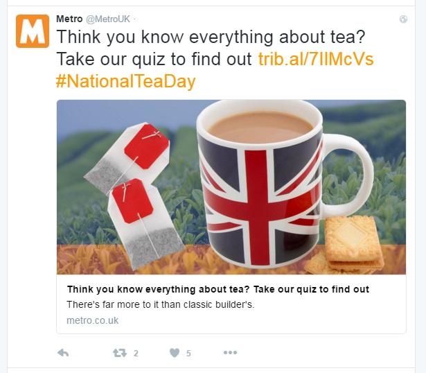 tea metro test