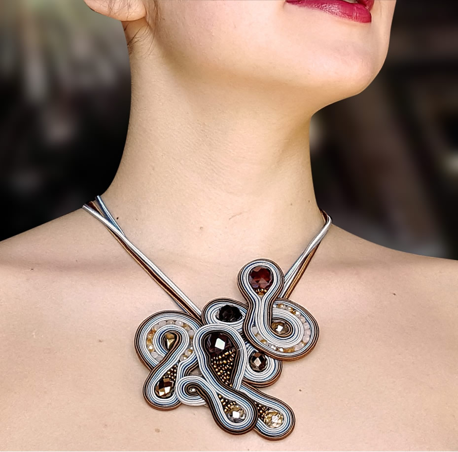 Italy Design Jewelry Soutache Jewelry By Stefania Cambule Reminiscent Of Sardinia