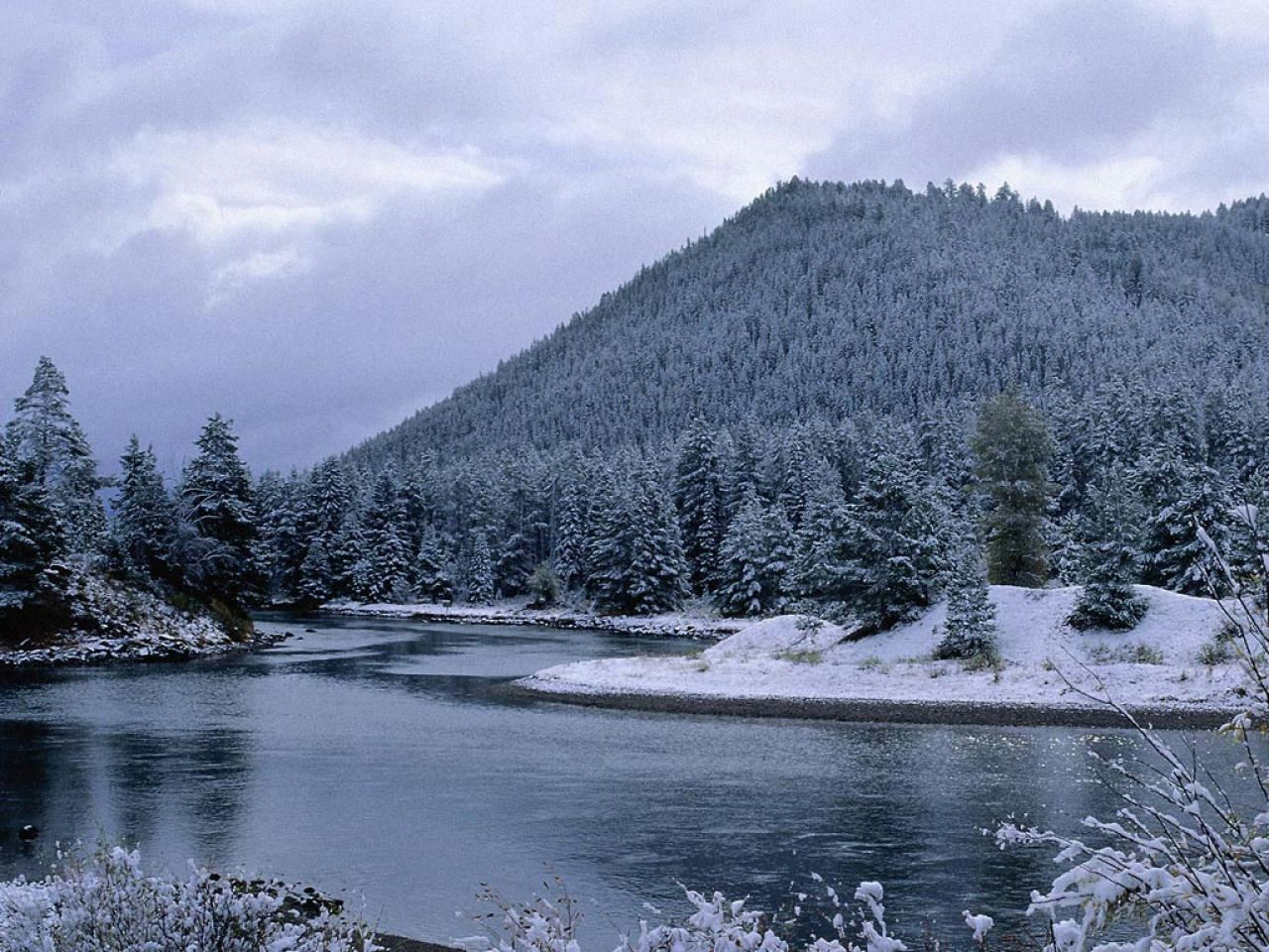 Snow Falling Background Wallpaper Paisajes Nevados M A R I A N