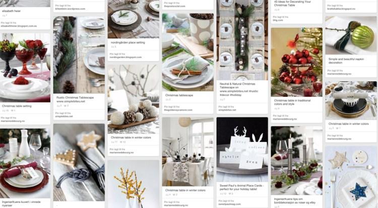 BORDDEKKINGSTIPS Tips til julens festbord