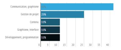 Représentation des types de contrats des professionnels du web