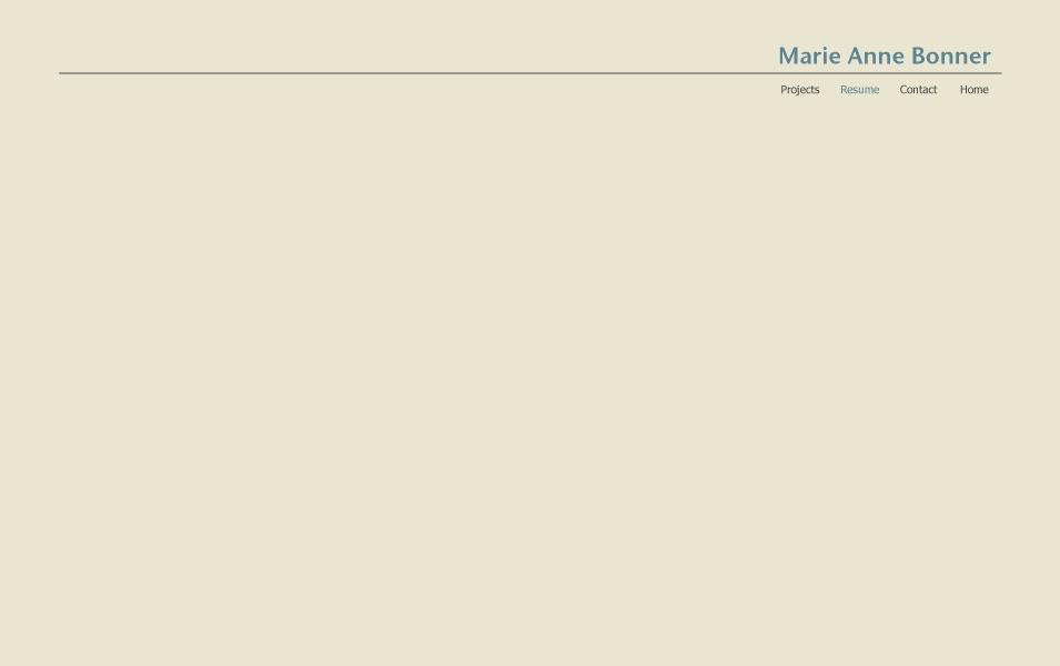 Marie Anne Bonner Resume
