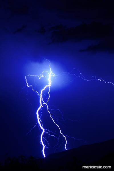 lightning, double lightning, blue, bolt
