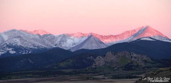 sunrise in the Colorado Rockies