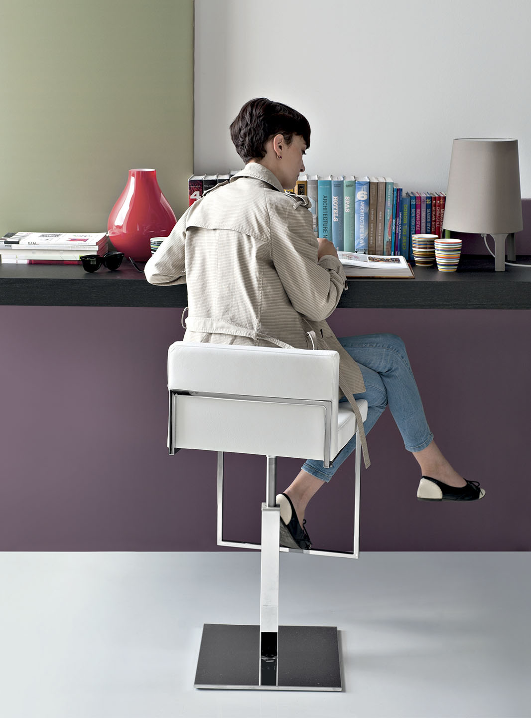 Tabouret Bar Acier Tabouret Even Plus Par Calligaris (cs/1394-lh) | Mariette