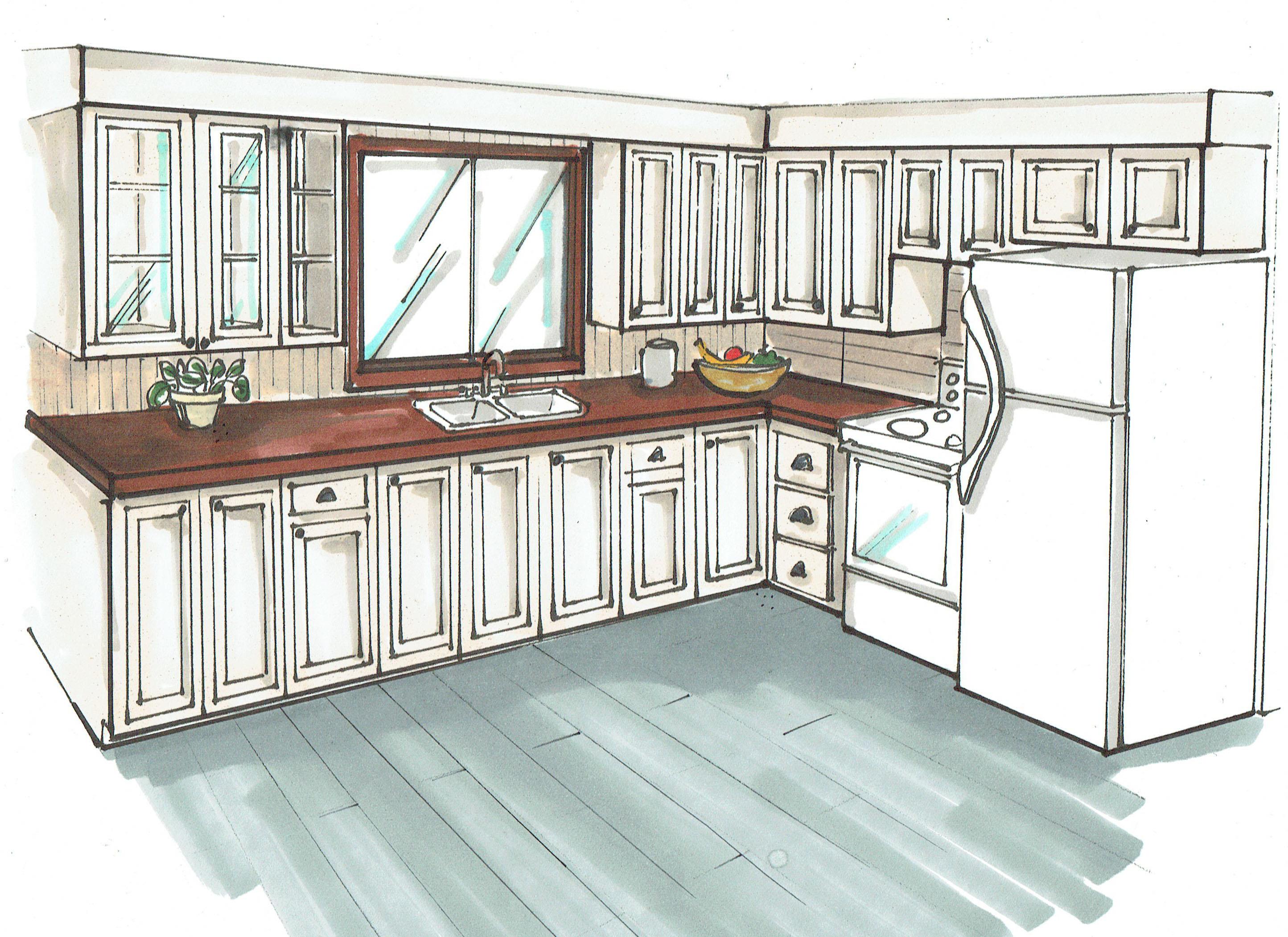 Comment dessiner une cuisine en perspective - Dessiner plan cuisine ...