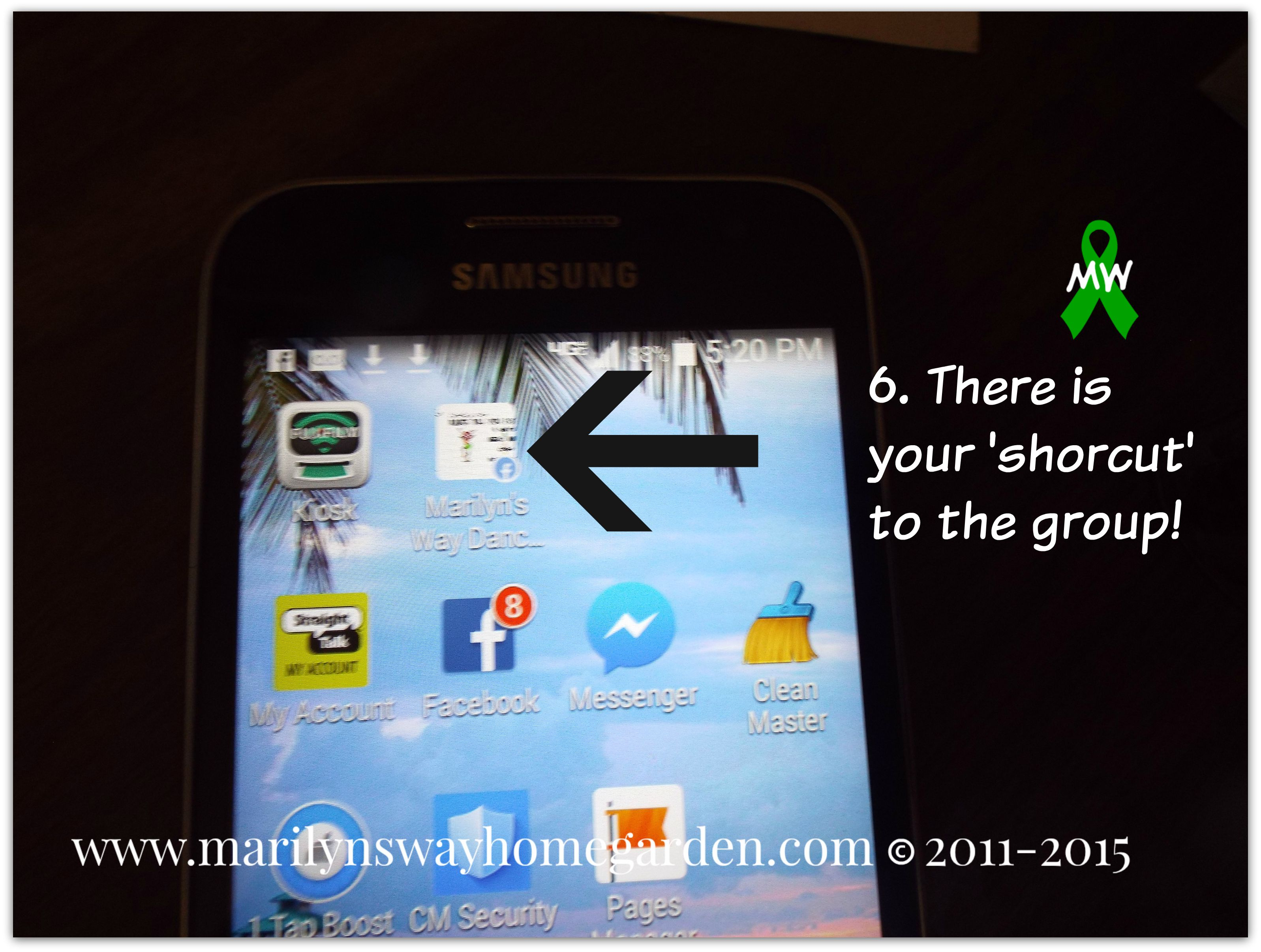 how to create a shortcut to a group on facebook