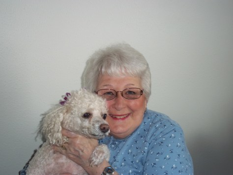 I took a photo of Lucy and Mom before we left for the nursing home to visit Hilda.