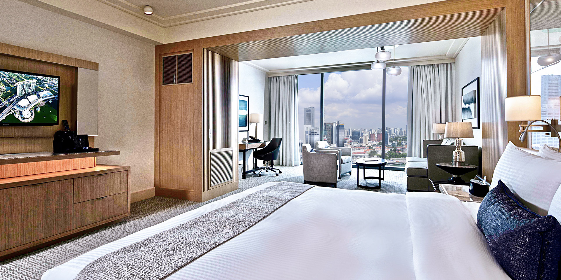 Canapé King Size Club Room In Marina Bay Sands Singapore Hotel