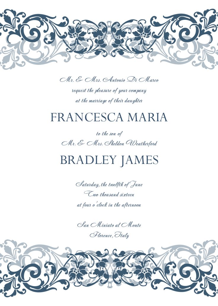 free wedding invitation templates for word Marina Gallery Fine art