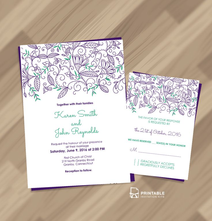 wedding invitation templates free download Marina Gallery Fine art - free downloadable wedding invitation templates