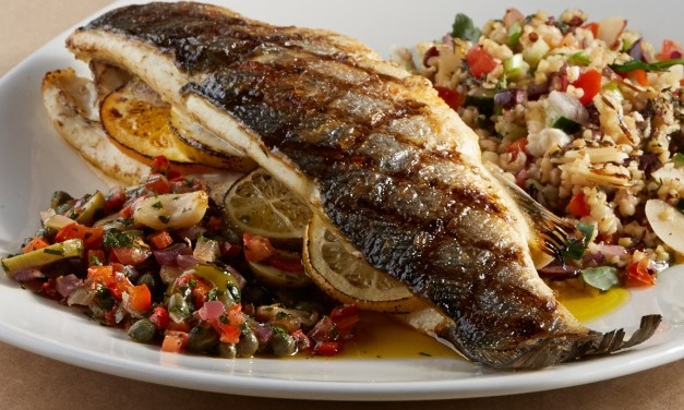Whole Bronzini in a Mediterranean-Style