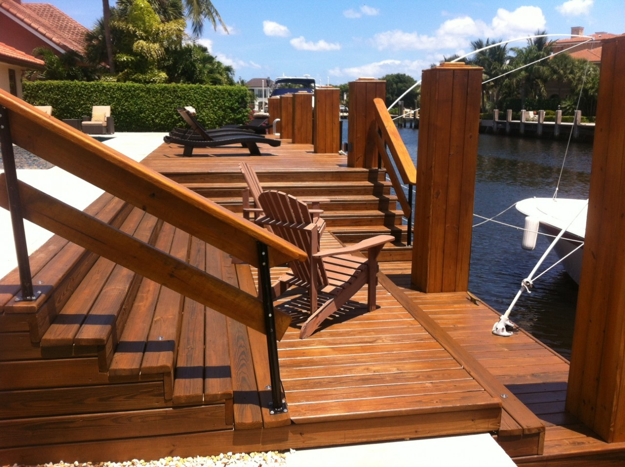 Custom Wood Deck Dock South Florida All Power Marine