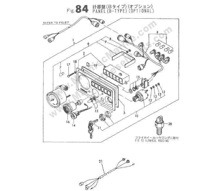 yanmar 3gm30 wiring harness