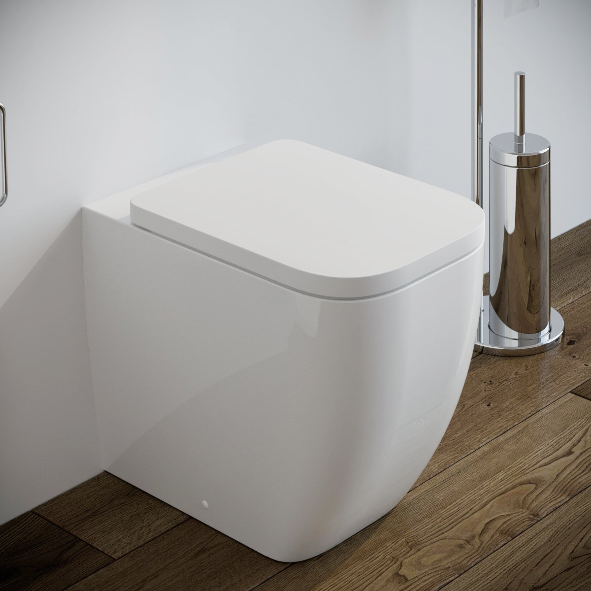 Vaso Wc Legend Filo Muro In Ceramica Completo Di Sedile Softclose