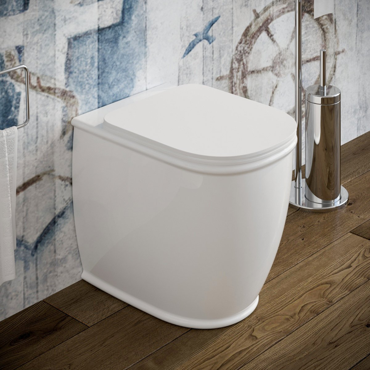 Vaso Wc Genesis Filo Muro In Ceramica Marinelligroup