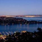 View of the San Francisco Bay at night