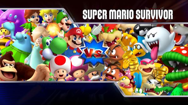 Iphone Collage Wallpaper Maker Super Mario Survivor 4 Mario Kart Wii Playable