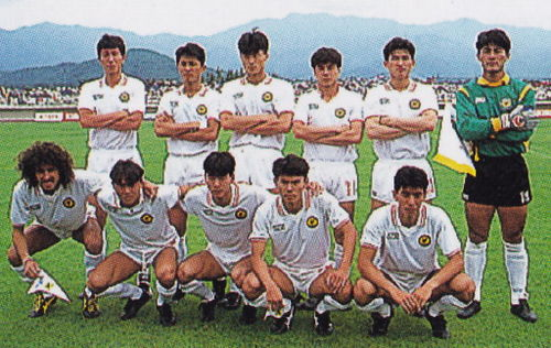 Japan-91-asics-away-kit-white-white-white-line-up