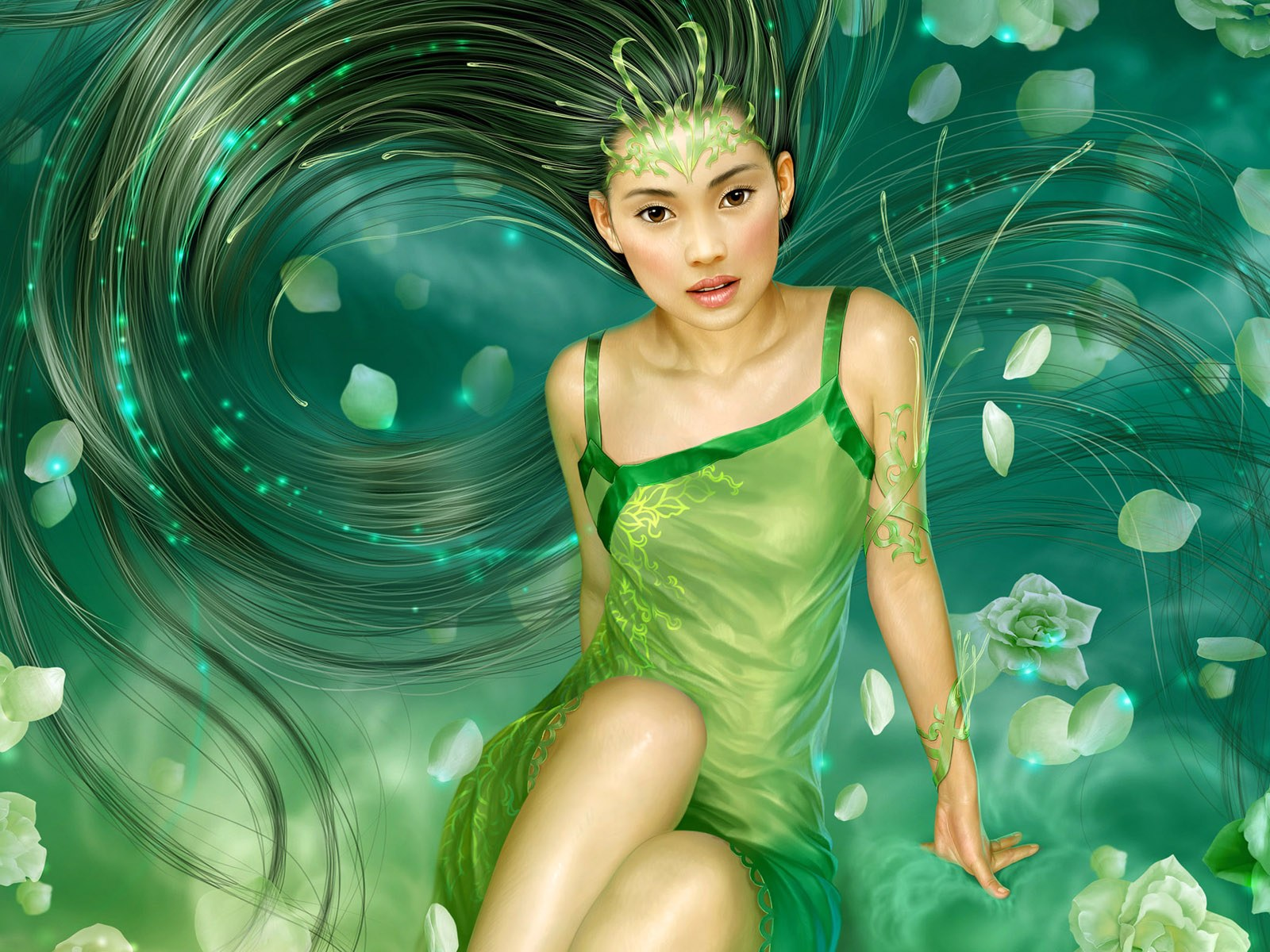 Beautiful Fiction Girl Wallpapers Masterpieces Of Fantasy Female Cg Characters Personal