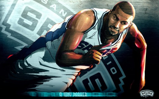Manu 3d Name Wallpapers Nba 2009 10 San Antonio Spurs Players Cartoon Artworks