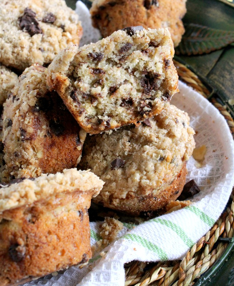 Enjoy these banana oatmeal chocolate chip muffins for breakfast ...