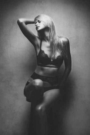 black and white boudoir