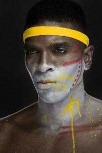 tribal beauty male portrait