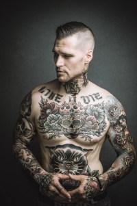 tattoed model