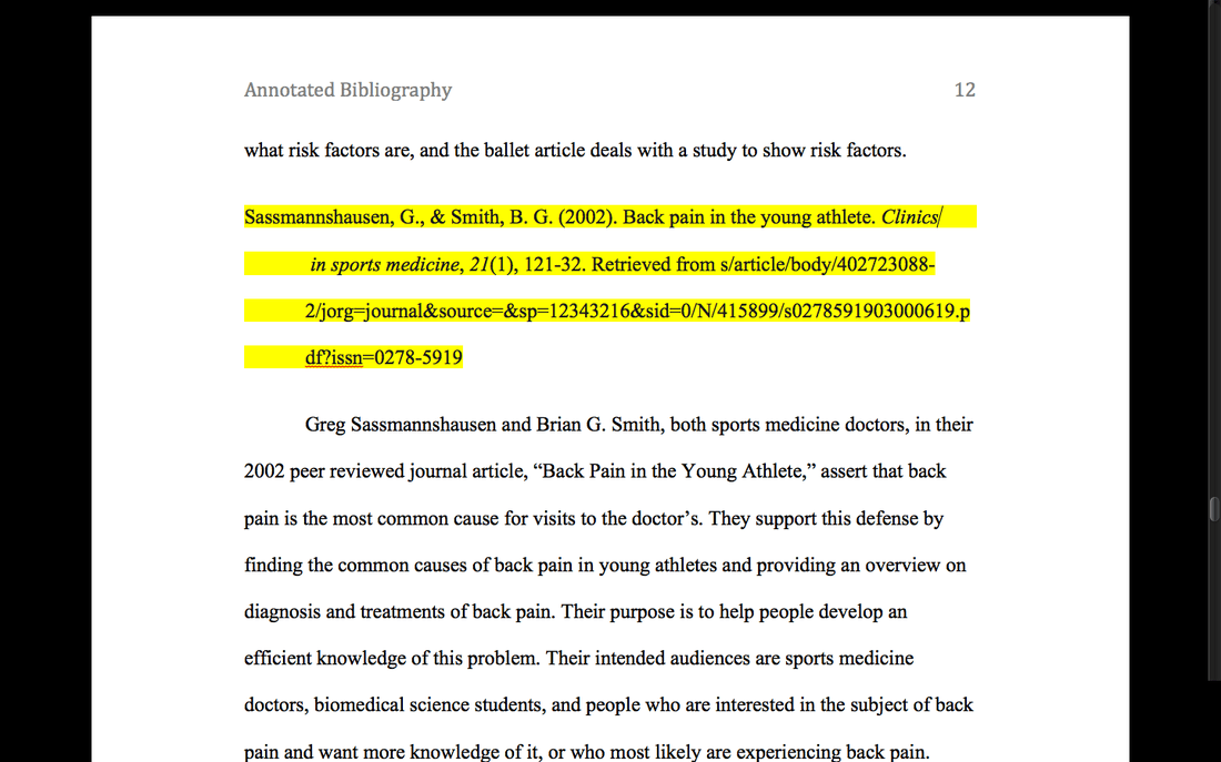 Annotated Bibliography Multiple Authors