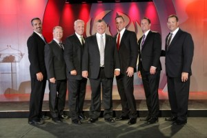 Shown from left to right: Dean Whaley, VP – Financial Planning & Analysis, Bill Shelton, Sr. VP - Marketing, Jim White, Sr. VP - Sales, Troy McQuagge, President and CEO, Travis Yoder, EVP - Sales, and Brian Clark, Sr. VP - Admin and CMO, Bill Woods, Sr. Director – Data Analytics.