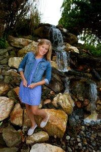 Ashley at waterfall