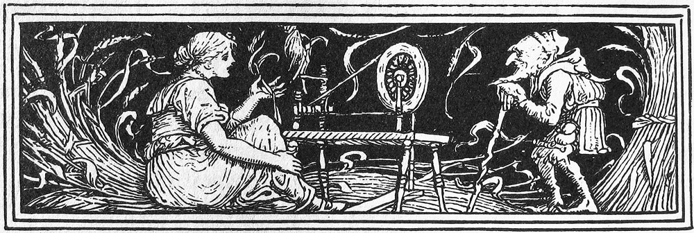 Rumpelstiltskin, from Household Stories by the Brothers Grimm, picture by Walter Crane