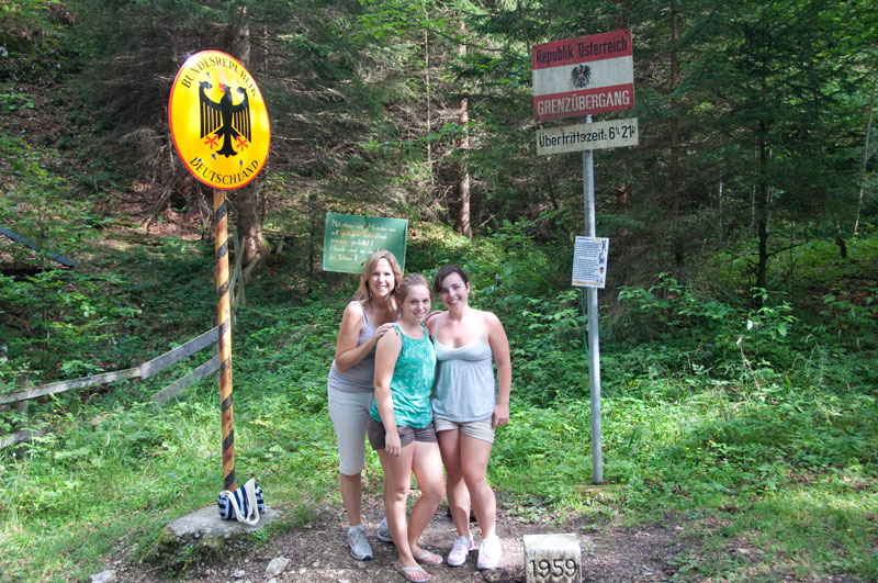 Border Cross from Austria into Germany