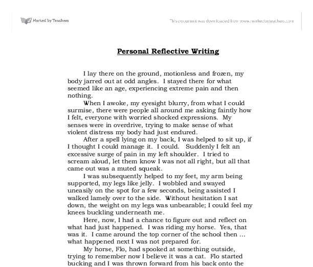 Self-reflective essay in english class