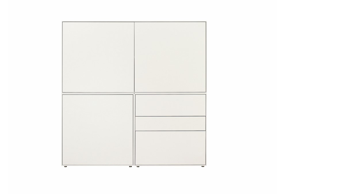 Hülsta Lattenroste Hülsta Now! Easy Highboard #980063 Ca H128 X B128 X T44,8 Cm