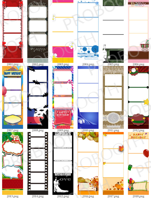 30 2X6 Photo Strip Templates \u2013 Bundle A (Darkroom Booth) The - po booth template