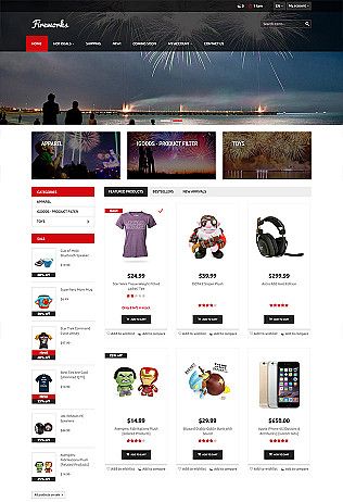Entertainment Website Templates and Online Store Examples