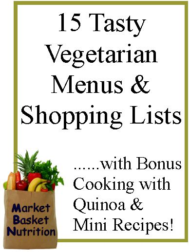 Tasty Vegetarian Menus  Shopping Lists E-Book - A Market Basket of - shopping lists