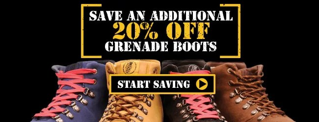 Additional 20% Off Grenade Boots - Start Shopping »