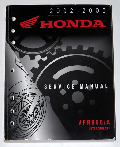 2002 2005 HONDA VFR800 VFR800A INTERCEPTOR Factory Shop Service