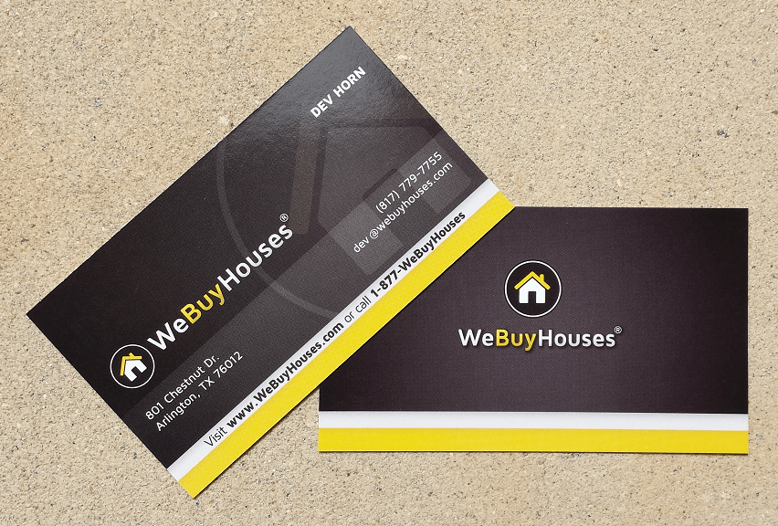 Business Cards | We Buy Houses Marketing Portal