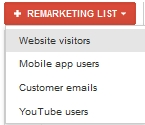 add remarketing list adwords