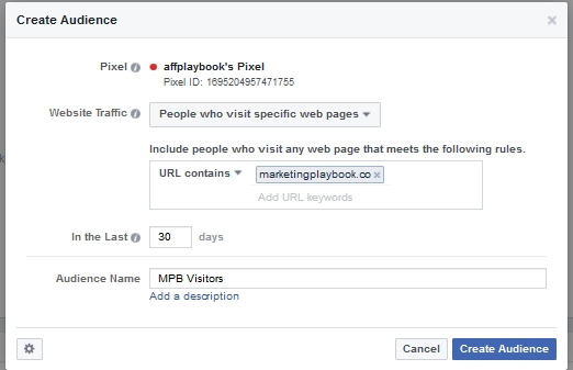 facebook create custom audience
