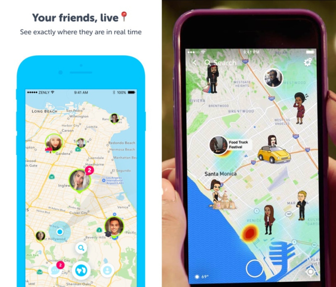 Share your location with your friend with