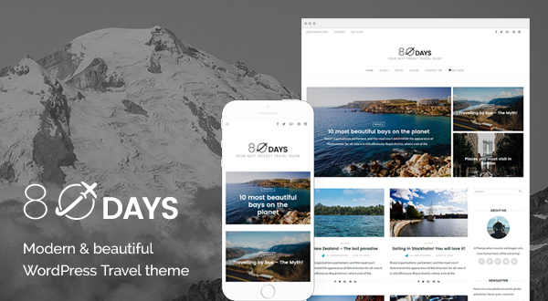 EightyDays - A Beautiful WordPress Travel Theme - Themes  Templates - wordpress travel themes