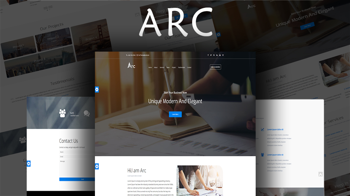 Arc - One Page Corporate Responsive HTML Template - Themes  Templates
