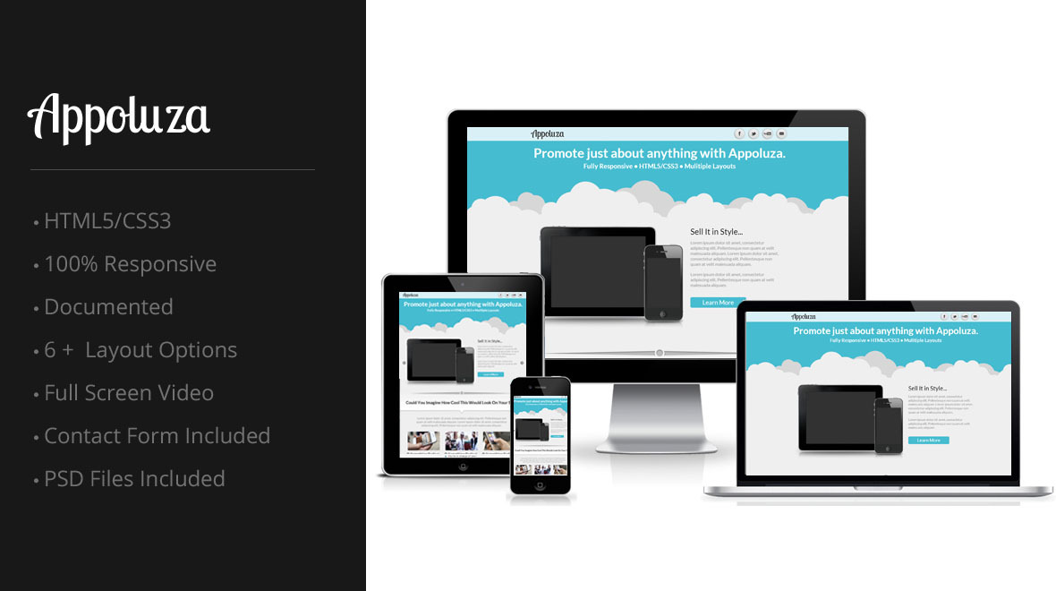 Appoluza - Multipurpose Responsive Landing Page Template With