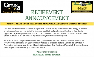 retirement announcement letter to clients radiovkm