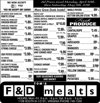 D Deals More Great Deals Inside Tom S F And D Meats Virginia Mn